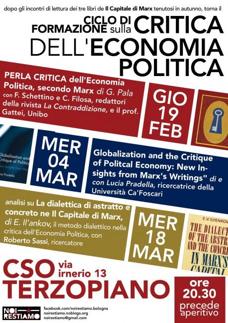 Ciclo di formazione sulla critica dell'economia politica